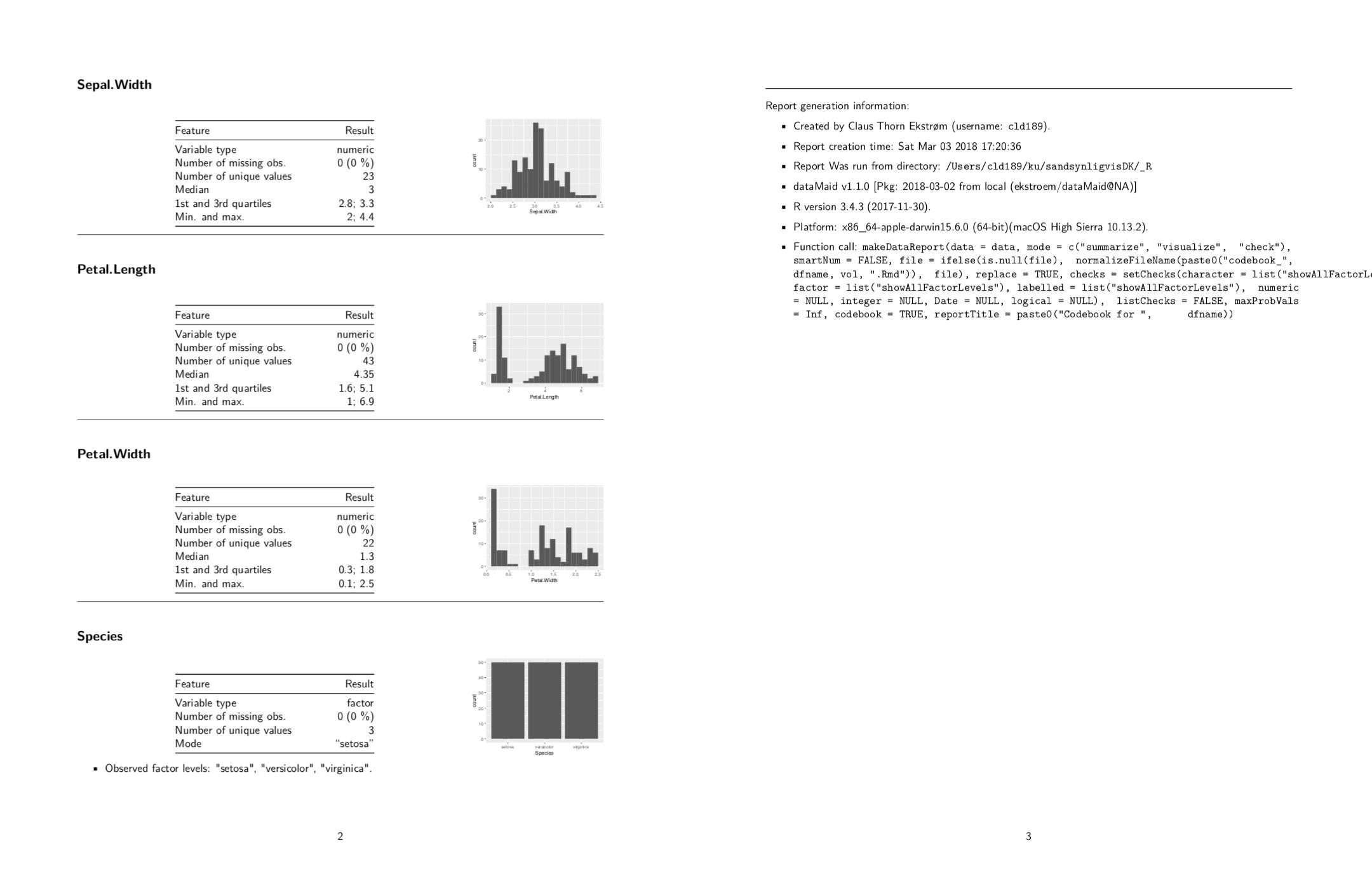 sandsynligvis dk - Generating codebooks in R